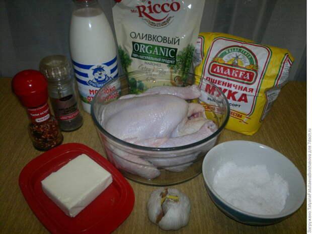 Сочная курица в тесте. Пошаговый рецепт с фото