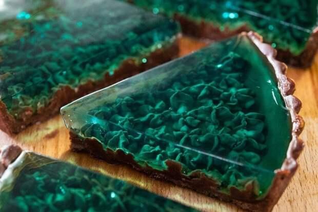 Изумрудный морской торт - это так же вкусно, как и красиво