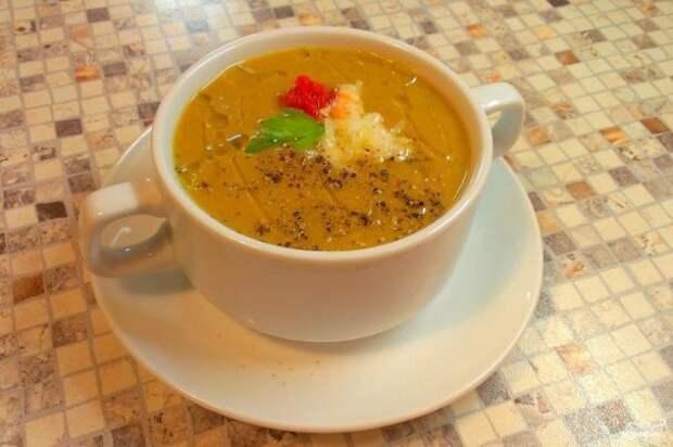 Суп-пюре из баклажанов