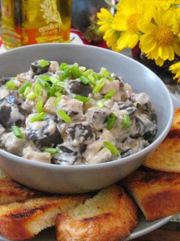 Закуска из баклажанов с плавленым сыром
