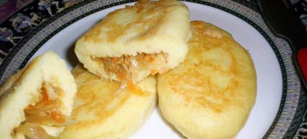 Тесто из картошки для пирожков с капустой