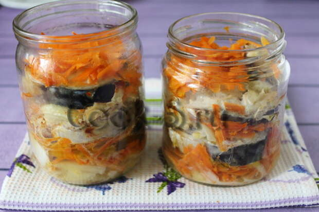 скумбрия в банке в духовке с овощами