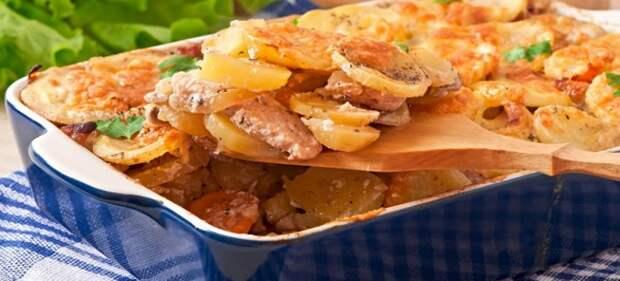 свинина в духовке с картошкой и сыром