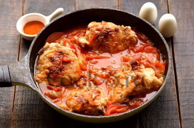 Курица в помидорах по-абхазски – очень вкусная (муж попросил найти рецепт после командировки на Кавказ)