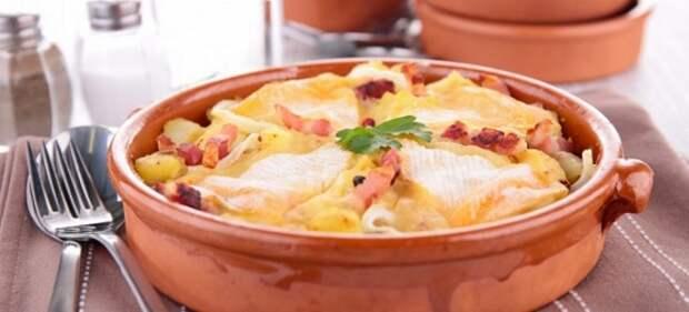 картошка с беконом и сыром в духовке