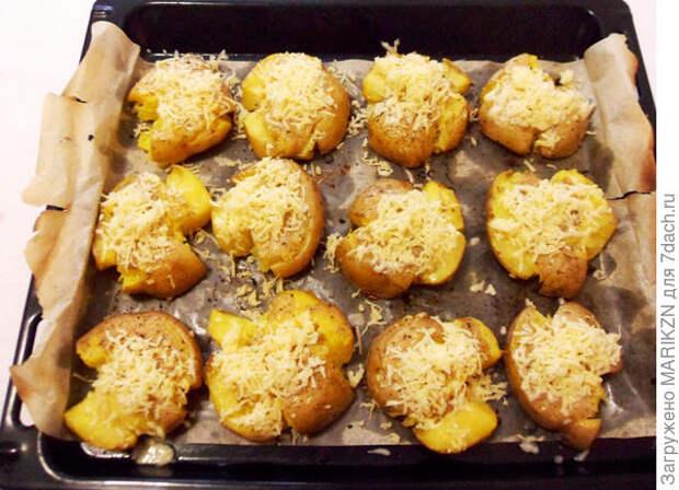 Мятый картофель, запеченный в духовке