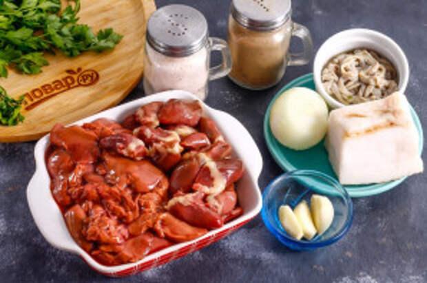 Ливерная колбаса из куриных потрохов - фото шаг 1
