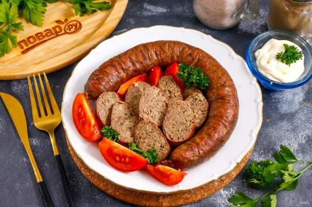Ливерная колбаса из куриных потрохов