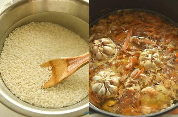 Воскресный плов товук из риса арборио