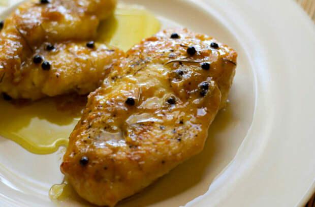 куриные грудки с лимоном