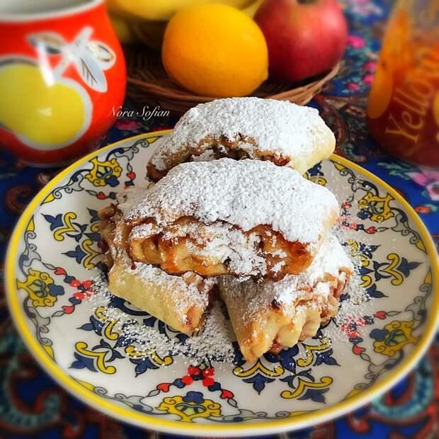 Творожное печенье с джемом