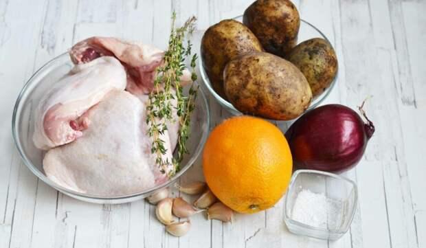 """""""Жар-птица"""" на вашем столе: курица в гранатовом маринаде с апельсинами и картофелем"""