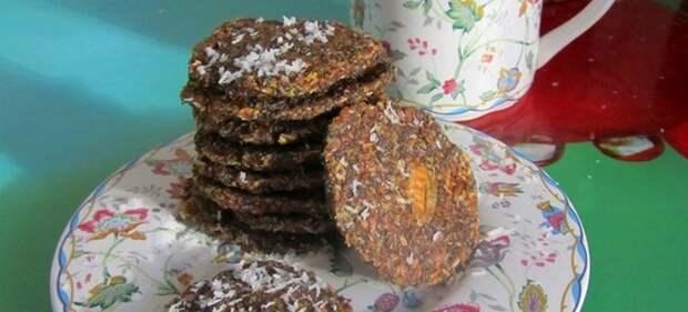 печенье из яблочного жмыха