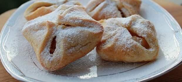 печенье конвертики с яблоками