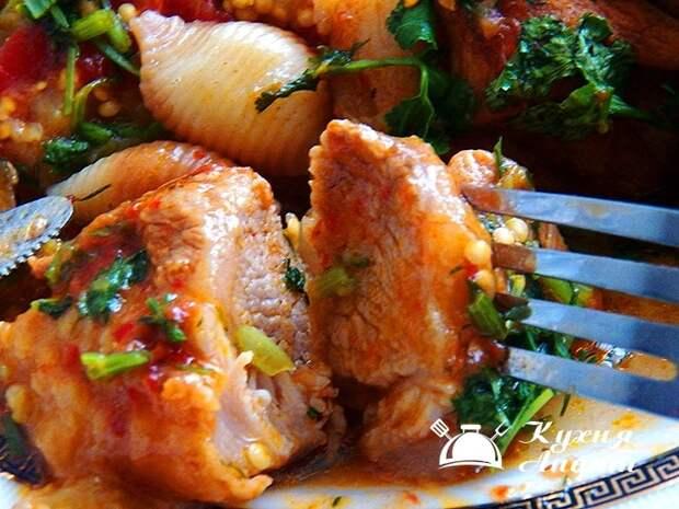 Чашушули ( жареная свинина по-грузински от Сосо Павлиашвили)
