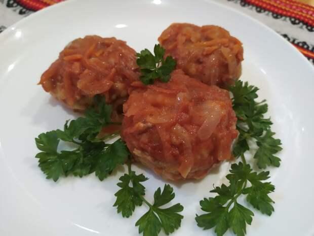 Рыбные тефтели в томатном соусе. Очень вкусные!