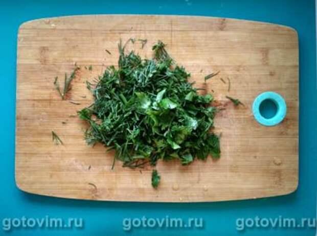 Чебуреки с творогом, сыром и зеленью (Ругувачки), Шаг 02