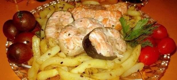 рыба с картошкой в микроволновке