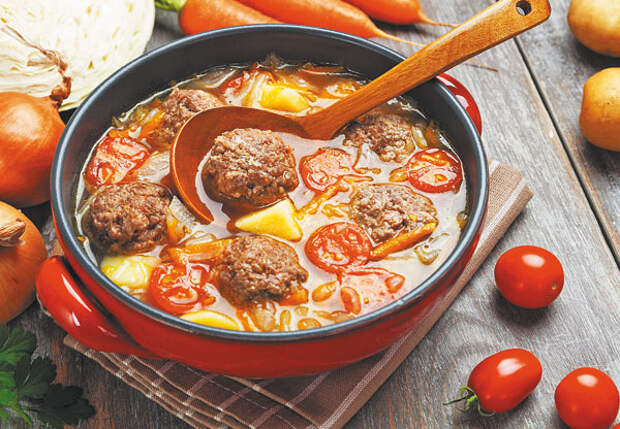 Полный фарш! Суп с фрикадельками, мясная запеканка, острая энчилада с говядиной и многое другое