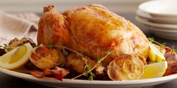Рецепты с чесноком: Курица, запечённая с лимоном и чесноком