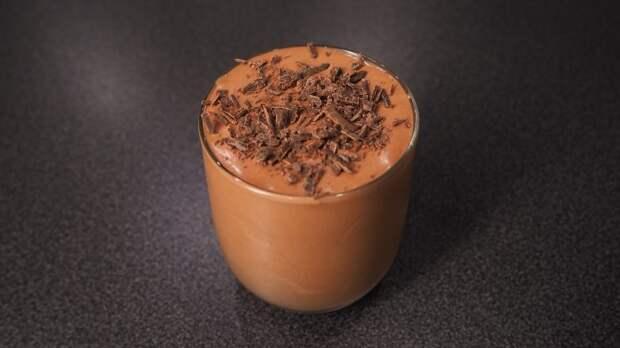 Шоколадный мусс из 2 ингредиентов