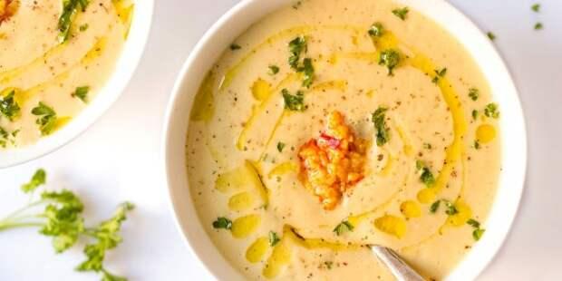Рецепты с чесноком: Крем-суп из цветной капусты с чесноком