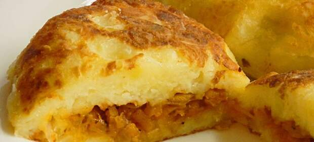 Пирожки из картофельного пюре с капустой
