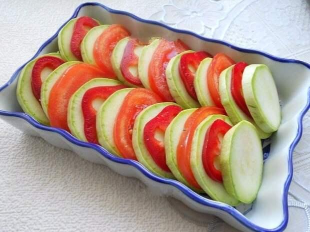 кабачки запеченные в духовке фото рецепт