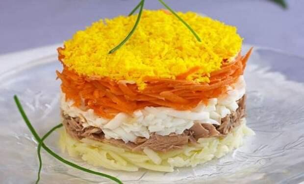 Салат мимоза с рисом рецепт